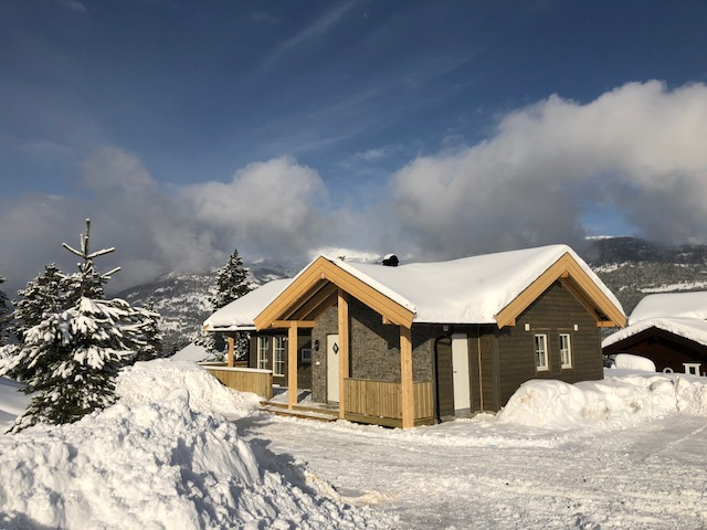 Hytte i Vrådal vinter