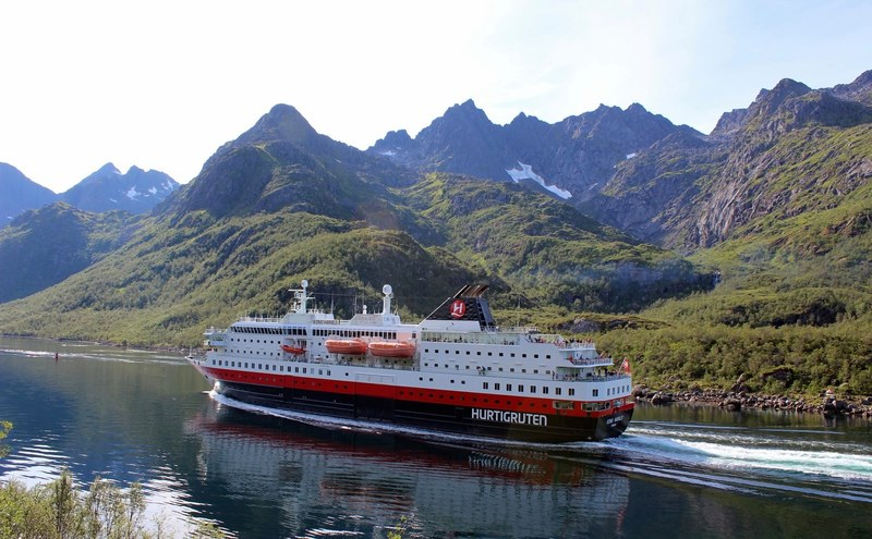 Hurtigruten-illustrasjonsfoto