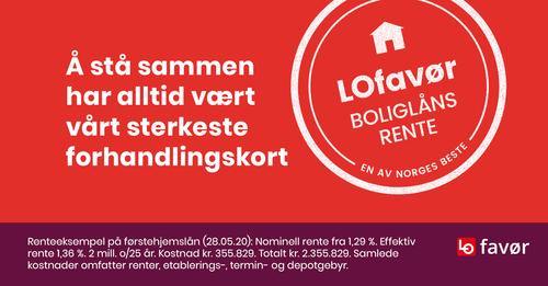 LOfavør: På vegne av medlemmene i alle LO-forbundene har vi forhandlet om bedre boliglånsrente for deg!