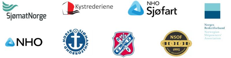 Logoene til alle sjømannsorganisasjonene og rederorganisasjonene