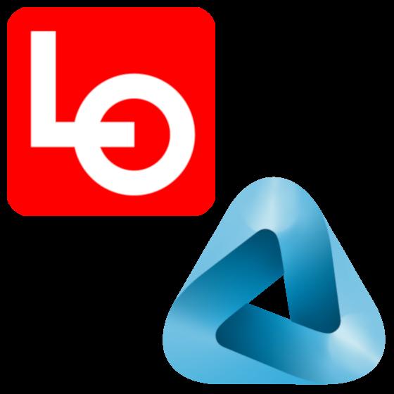 Logoene til LO og NHO